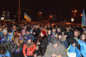 В Запорожье отметили годовщину Майдана