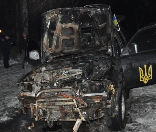 Поджог автомобиля – результат деятельности запорожских сепаратистов или криминальные разборки?