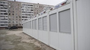 Запорожский городок для переселенцев практически пуст