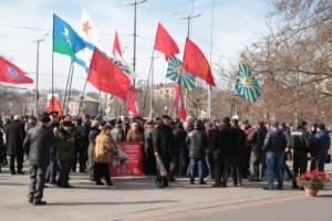 «Антивоенный» митинг в Запорожье прошел относительно спокойно