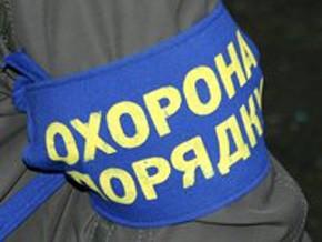 Улицы запорожских городов охраняют милиция и общественники