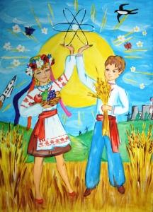 Дети Запорожской области рисовали мирный атом