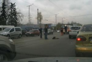 В Запорожье автомобиль «Скорой помощи» сбил пешехода