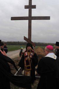 На запорожском кладбище установлен Памятный крест в честь погибших военных