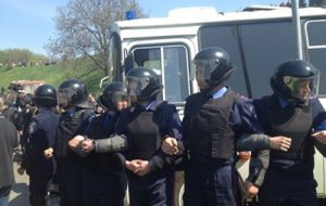 На коммунистическом митинге в Киеве задержано 15 человек