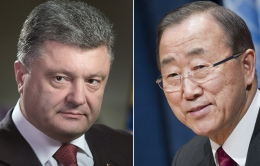 Президент и Секретарь ООН  обсудили возможность размещения миротворческой миссии на Донбассе