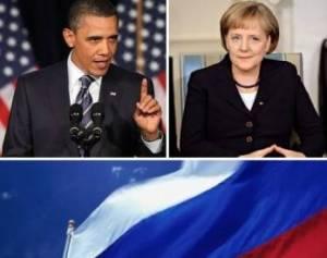 Обама и Меркель связывают срок действия антироссийских санкций с выполнением минских соглашений
