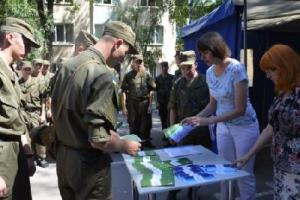 В запорожскую военную часть приехал мобильный офис
