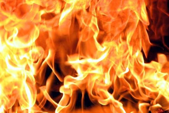 В Запорожской области сгорел микроавтобус Mercedes