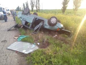 На запорожской трассе в лобовом столкновении автомобилей пострадало четыре человека
