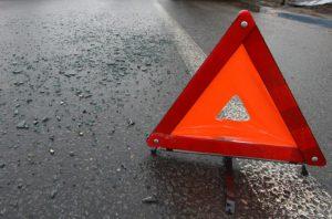 На запорожской трассе после лобового столкновения автомобиль вылетел в кювет - ФОТО