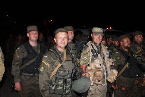 В Запорожье встречали нацгвардейцев, вернувшихся из зоны АТО