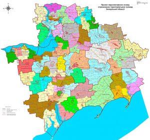 Обнародован вариант новой карты Запорожской области