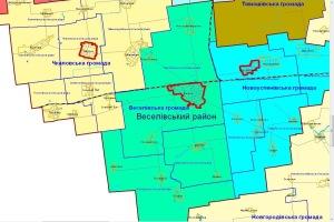 Первыми в Запорожской области объединились советы Веселовского района