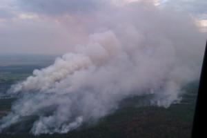 Ликвидация пожара в чернобыльской зоне отчуждения продолжается