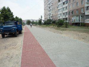 Стоимость тротуара в Южном микрорайоне меняется по ходу строительства