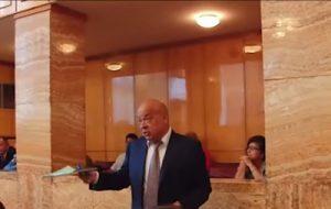 В сеть выложили видео, как Москаль ругается с закарпатскими депутатами