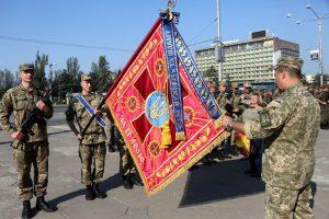 55-я артбригада получила второе боевое знамя за всю историю своего существования