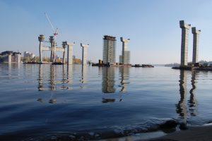 Строительство запорожских мостов: расстояние между Правым берегом и Хортицей сократилось на 72 метра
