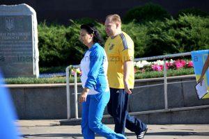 Олимпийская чемпионка вывела на зарядку чиновников Запорожской облгосадминистрации