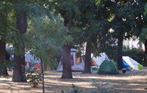В Одессе беженцы из Луганской области развернули палаточный лагерь