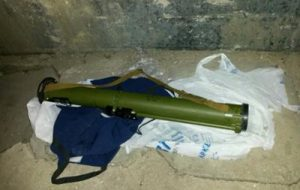 На маршруте, где должен был ехать кортеж Яценюка, нашли гранатомет
