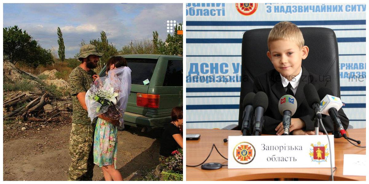 Итоги уходящей недели: венчание в окопе, ДТП с маршруткой и награждение 7-летнего героя