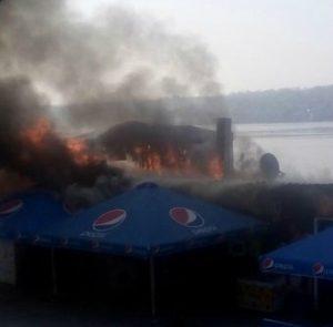 Опубликованы фото пожара в запорожском клубе