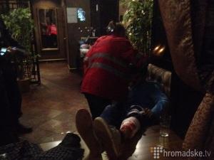 В киевском ресторане в результате стрельбы пострадали два посетителя