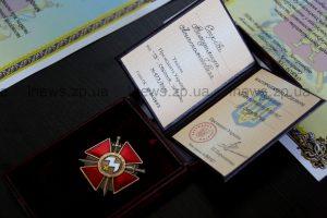 Запорожскому солдату вручили орден Богдана Хмельницкого
