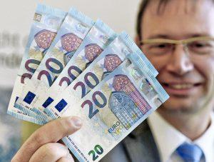В Германии показали, как будут выглядеть новые евро