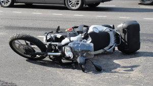 В Запорожье в ДТП пострадали водитель и пассажирка мотоцикла