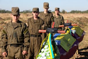 Герои не умирают: Как запорожцы прощались с бойцами
