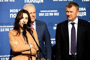 Фоторепортаж: Как Эка Згуладзе открывала набор в запорожскую патрульную полицию