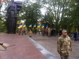 В Запорожье ко Дню защитника Украины прошел торжественный митинг