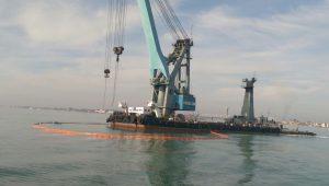 Появилось видео, снятое с воздуха, как поднимали «украинский Титаник»