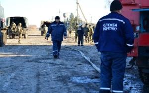 В Сватово произошел пожар на складе Минобороны