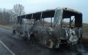 В Винницкой области сгорел пассажирский автобус