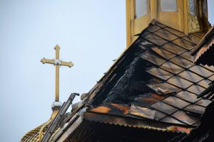 Во Львовской области горела церковь