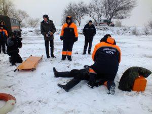 Запорожские спасатели готовятся к предупреждению ЧС на воде зимой