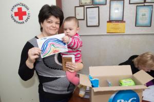 Переселенцы в Запорожской области получат гигиенические наборы от Красного Креста
