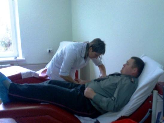 Запорожские пенитенциарии на день стали донорами