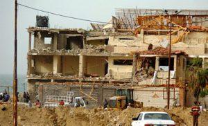Группа боевиков расстреляла жилой дом