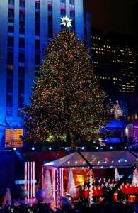 В Нью-Йорке зажгли главную рождественскую елку