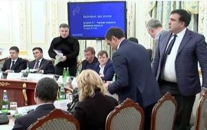 Аваков выложил в Сеть видео словесной перепалки с Саакашвили