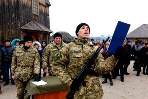 Около 200 солдат приняли присягу в Запорожье