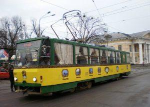 В Запорожье вышел 25-й отремонтированный трамвай