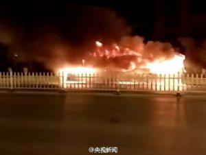 В Китае сгорел пассажирский автобус, 17 погибших