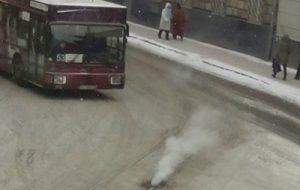 Во Львове загорелись трамвайные пути