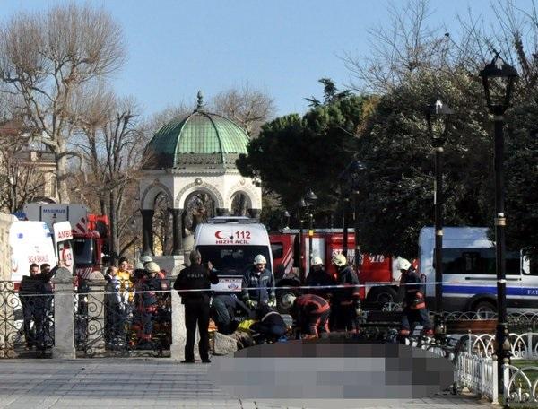 В Стамбуле прогремел взрыв, 10 погибших